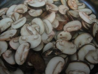 thinly slice mushrooms