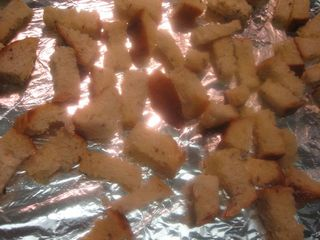 Bake for croutons