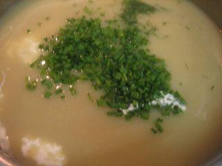 Return soup to pan