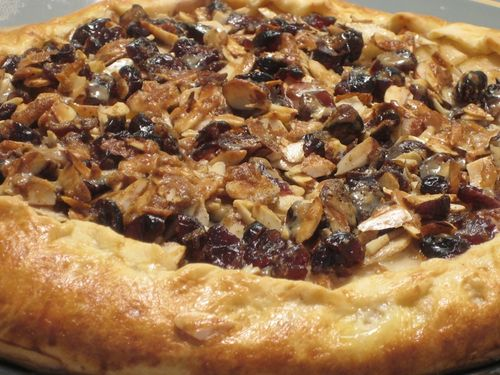 Ready to eat rustic pear tart!