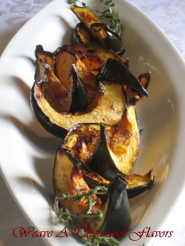 Holiday Favorites : Decadent Sugar & Thyme Roasted Acorn Squash