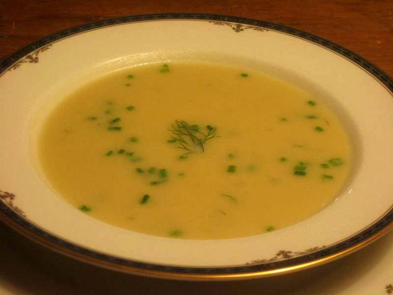 A Cream of Leek, Fennel & Potato soup