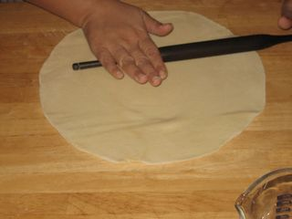 Keep rolling pastry sheet to uniform thickness