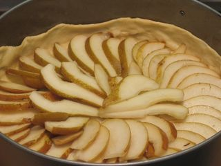 Use up all the pear slices
