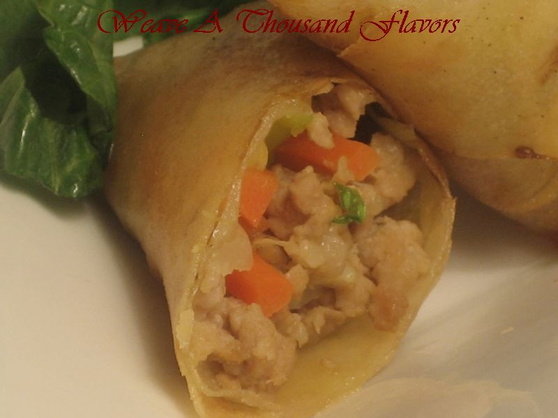 Scrumptious Fu Jian, Chinese Style Pork & Vegetable Spring Rolls