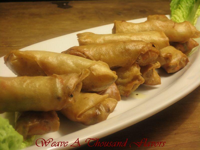 Scrumptious Fu Jian, Chinese Style Pork & Vegetable Spring Rolls