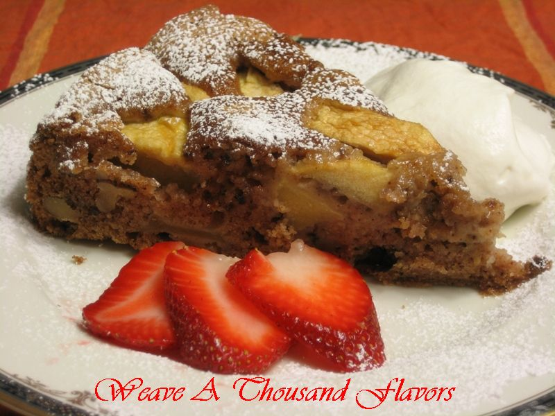 Old World Romanian Apple & Walnut Cake