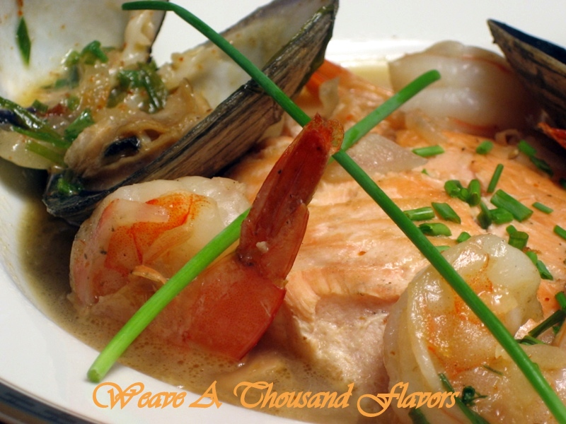 {Salmon A La Sidra} Spanish Style Salmon stewed in Cider