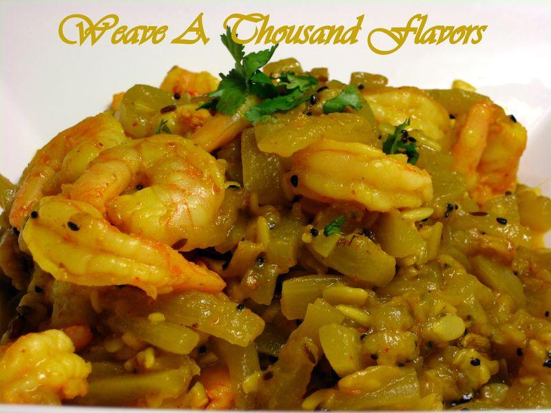 A Bengali style Vegetable with Bottle Gourd Vegetable & Shrimp