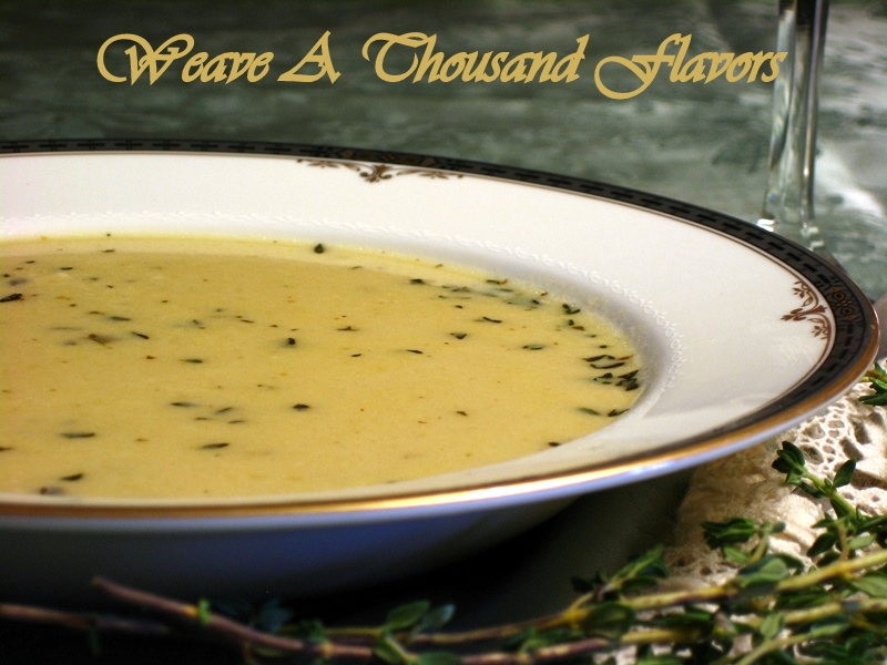Roasted Apple, Brie & Thyme Soup