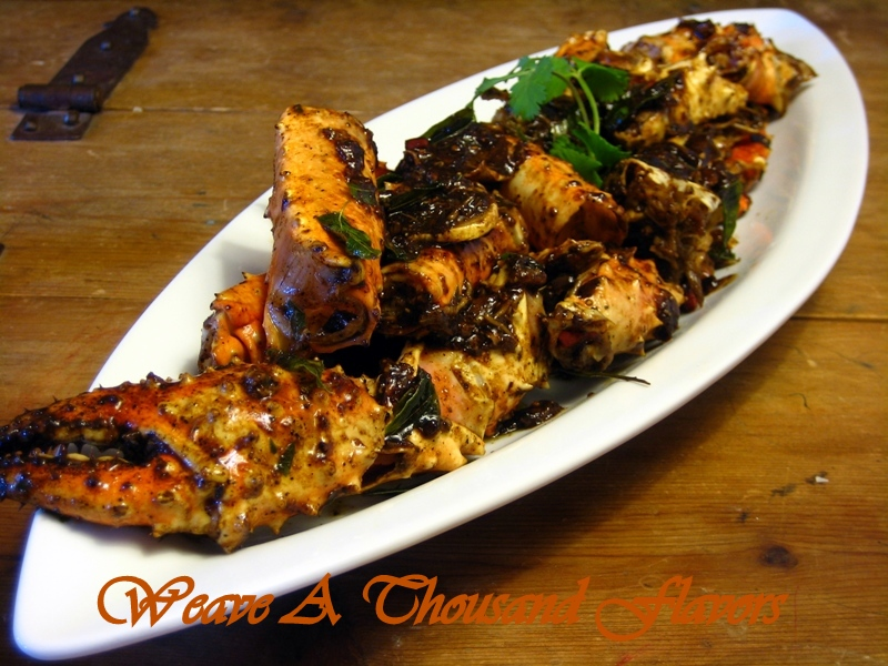 Spicy Stir Fried Pepper Crab Legs