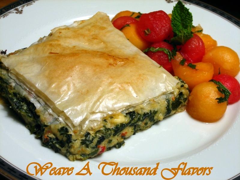Spinach & Ricotta Spanakopita Pie