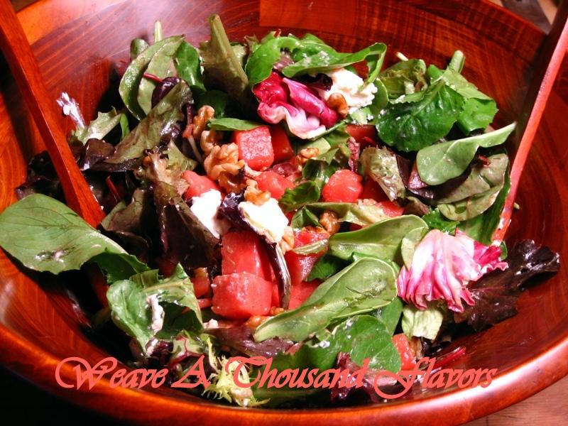 Watermelon, Walnut & Goat Cheese  Salad