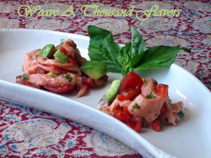 Peruvian Salmon Ceviche