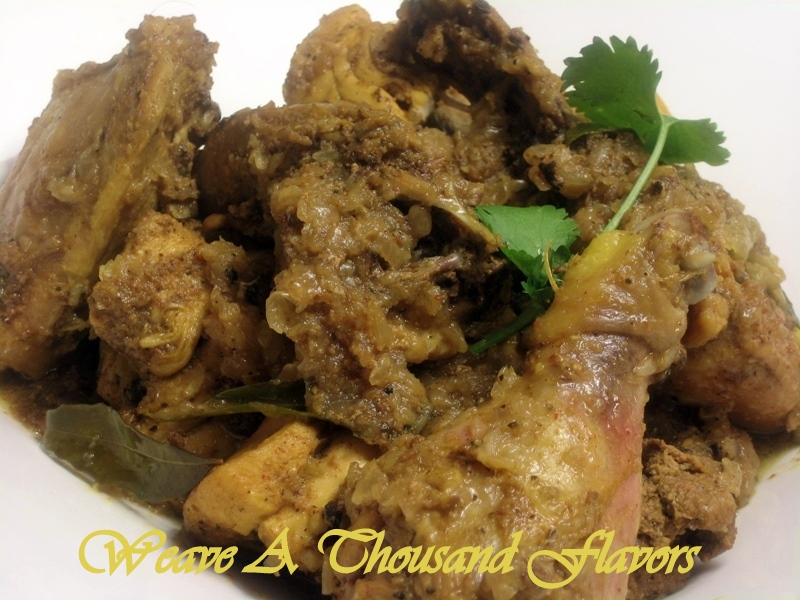 Tellicherry Pepper Chicken - From  South India's Malabar coast, tender Chicken with Pepper, Spices &  aromatic Kari leaves