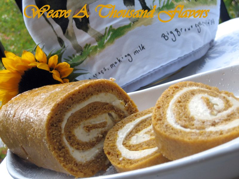 Pumpkin Swiss roll - 4