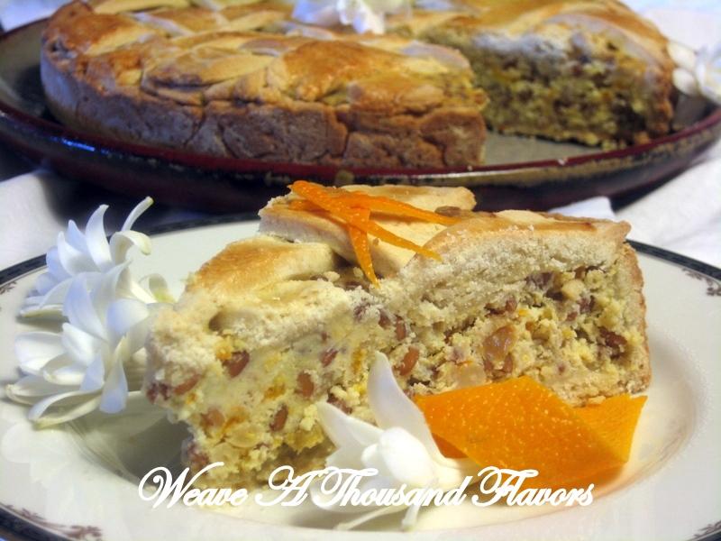 {La Pastiera di Grana} A Traditional Wholegrain Easter Ricotta Pie from Campania, Italy