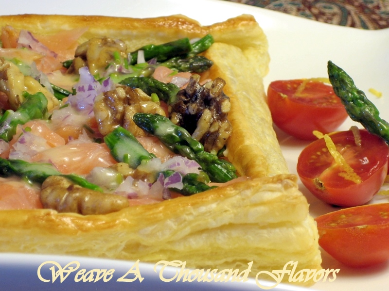 Smoked Salmon & Mascapone-Brie Filled Pastry with Chive Butter Sauce