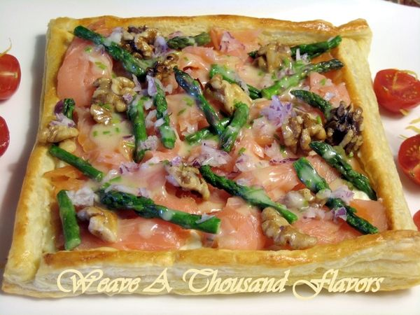 ... Brie Filled Pastry with Chive Butter Sauce - Weave a Thousand Flavors