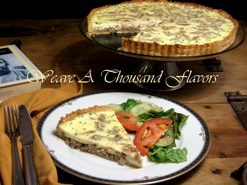 Caramelized Onion, Goat Cheese & Walnut Quiche