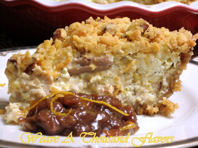 A Splendid No-Roll, Chicken & Pecan Crumb Pie