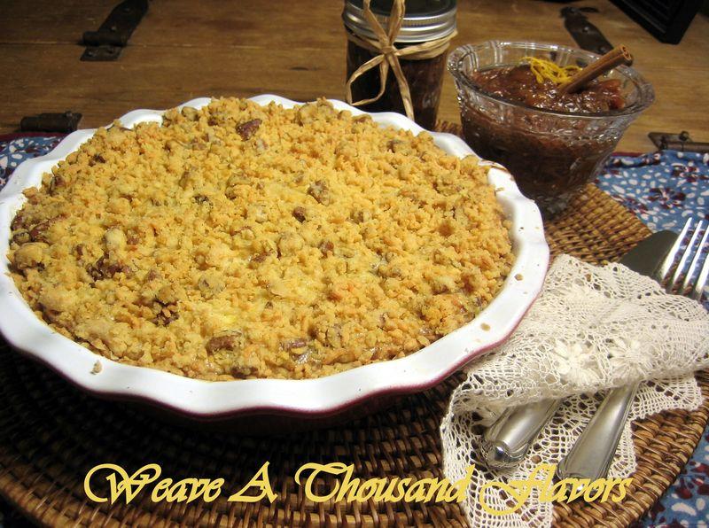 No-Roll Chicken & Pecan Crumb Pie