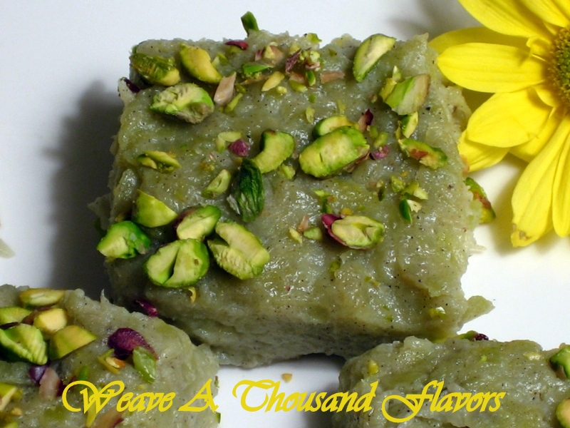 A Delicious Dessert with Calabash a.k.a Bottle Gourd ~ Doodhi Halwa from India