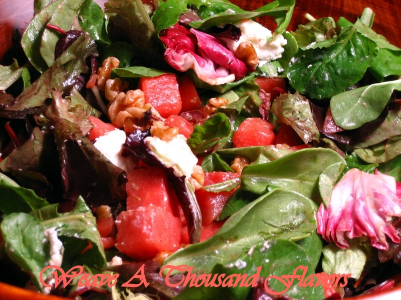 Watermelon, Walnut & Goat Cheese