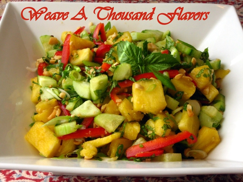 Thai Style Pineapple & Cucumber Salad