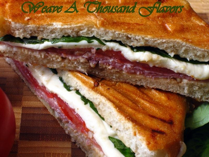 Quick & Easy - Grilled Salami & Caprese Panini