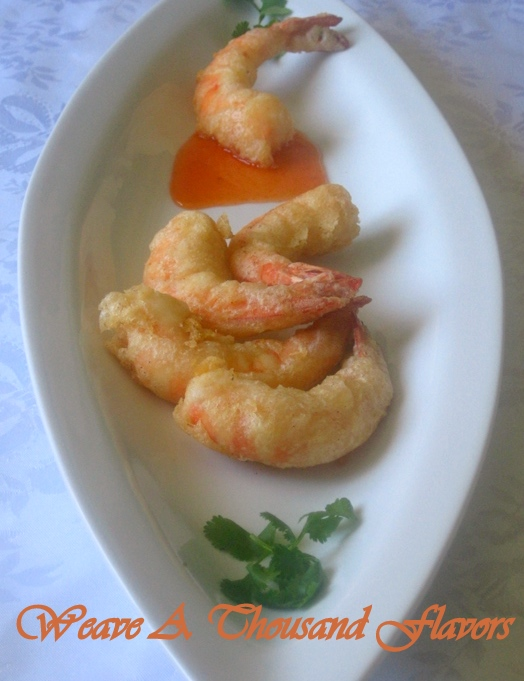 Beer Battered Prawns