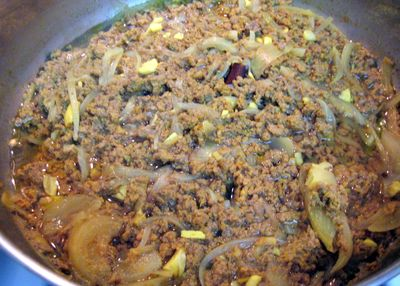Kheema - After it's cooked
