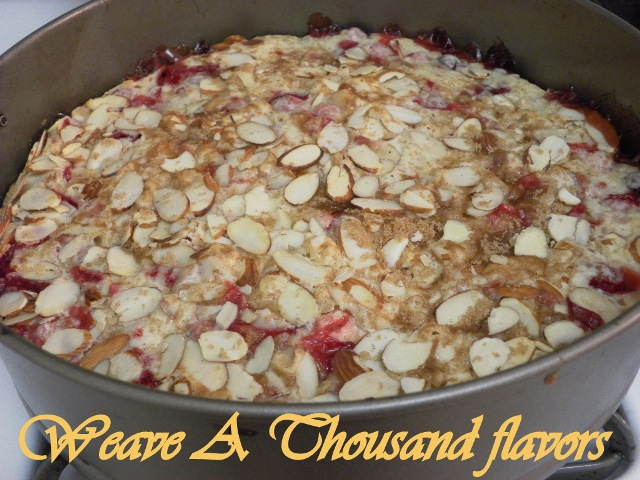 Cranberry Apple Cake - Out of the oven