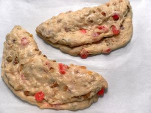 Stollen-fold over marzipan