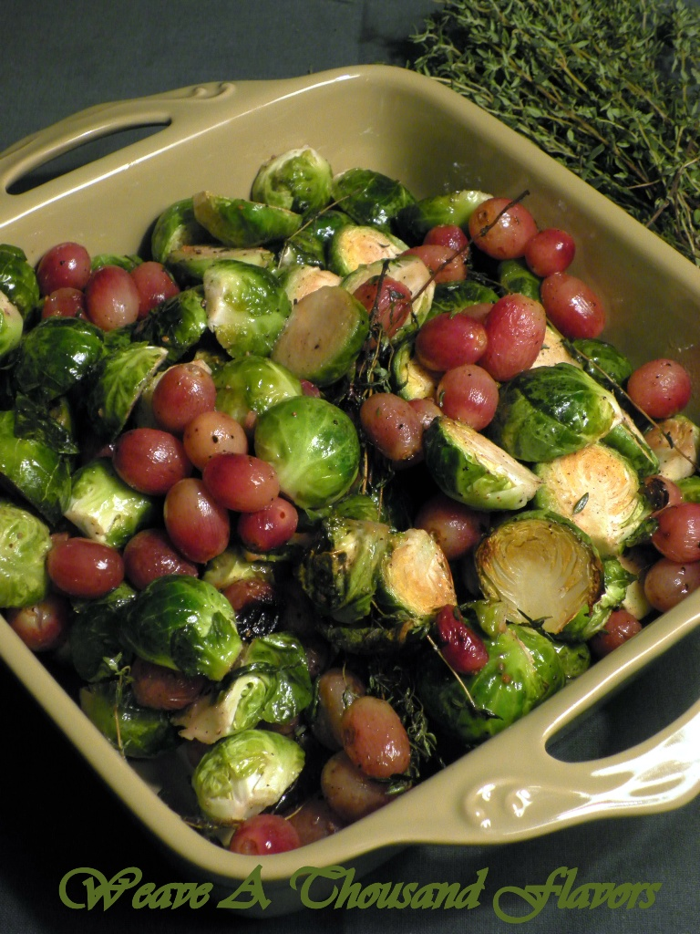 Roasted brusselsprouts & grapes - 1