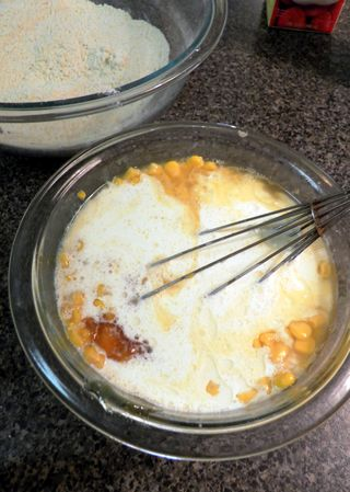 Honey Corn bread - Wet Ingredients