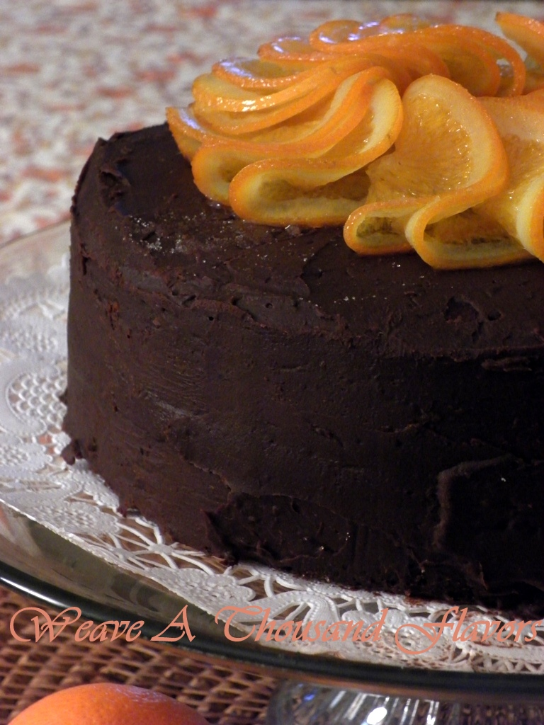 Orange Burst Chocolate Ganache Cake3