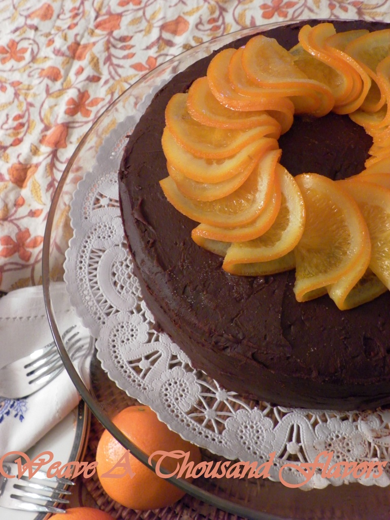 Orange Burst Chocolate Ganache Cake-1