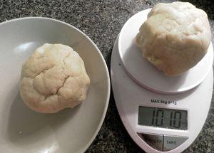 Erbazzone crust - Divide chilled dough ball