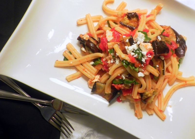 Sicilian-Style Pasta With Eggplant, Tomatoes, And Ricotta Salata ...