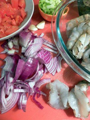 Baked Prawns Tomato & Marsala Chutney -Prepare  Ingredients