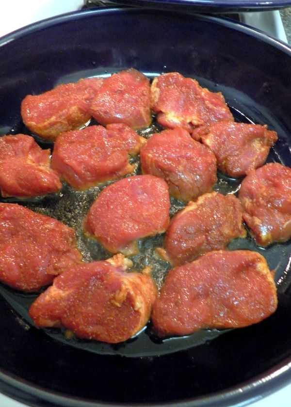 Mediterranean Pork Tenderloin Medallions with Apricots, Sweet Potatoes ...