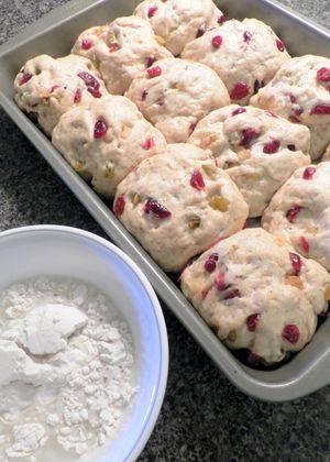 Loaded Hot Cross Buns - Risen dough balls