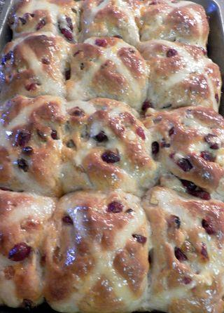 Loaded Hot Cross Buns - Glazed buns