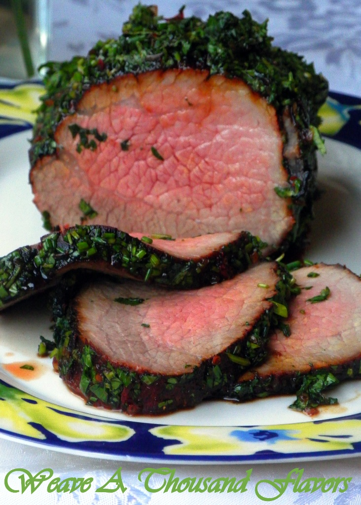Asian style herb rolled beef - 1