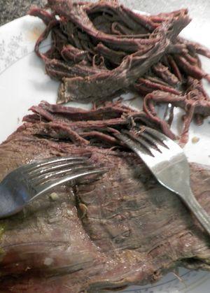 Ropa Vieja- Shred flank steak