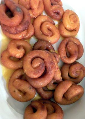 Channar Jilipi - Remove soak spirals to a platter