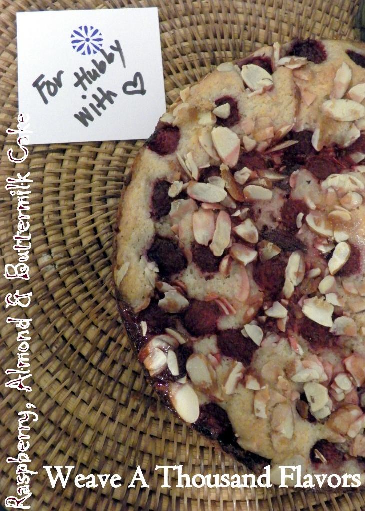 Raspberry, almond,buttermilk cake -01