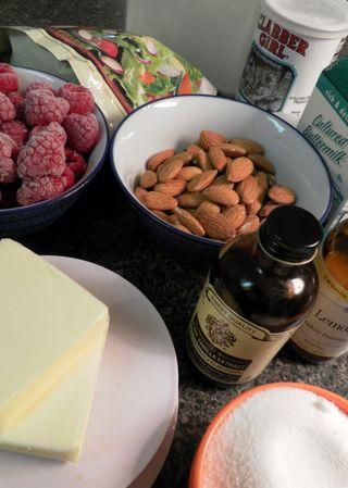 Raspberry, almond,buttermilk cake -Ingredients