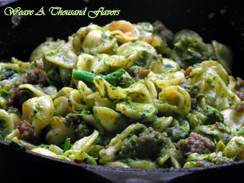 Orecchiette with Italian saisage & Rapini-Pistachio Pesto - 03